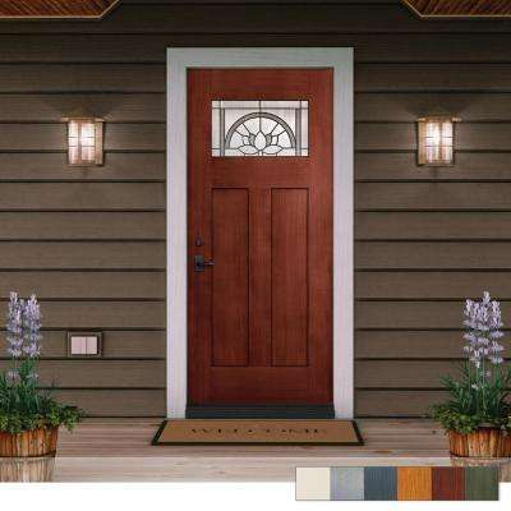 Statement Collection Customizable Fiberglass Prehung Front Door