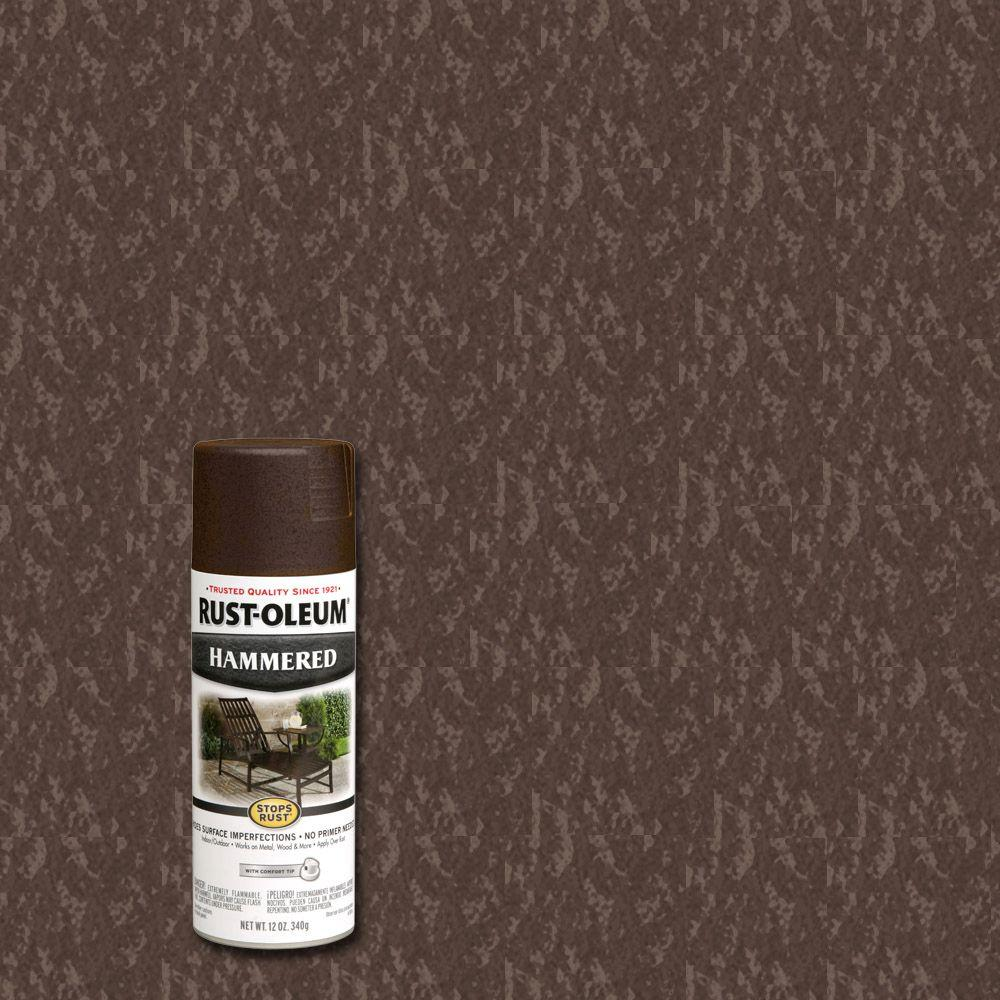 12 oz. Brown Protective Enamel Hammered Spray Paint