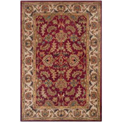 Heritage Red/Ivory 9 ft. x 12 ft. Area Rug