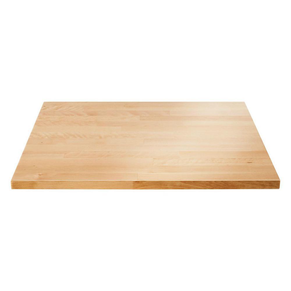 27 in. W Hardwood Worktop for Premier Series Garage Cabinets