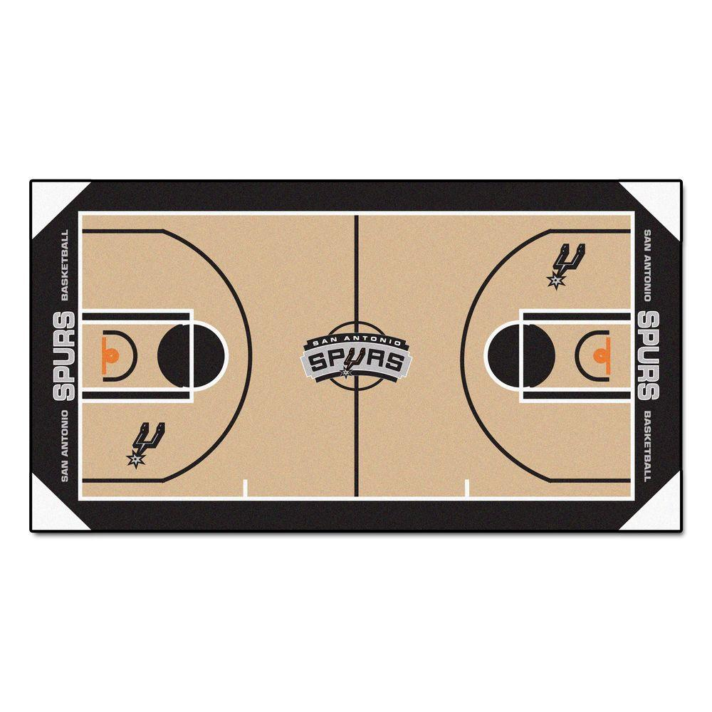 Fan Mats NBA San Antonio Spurs 3 ft. x 5 ft. Large Court ...