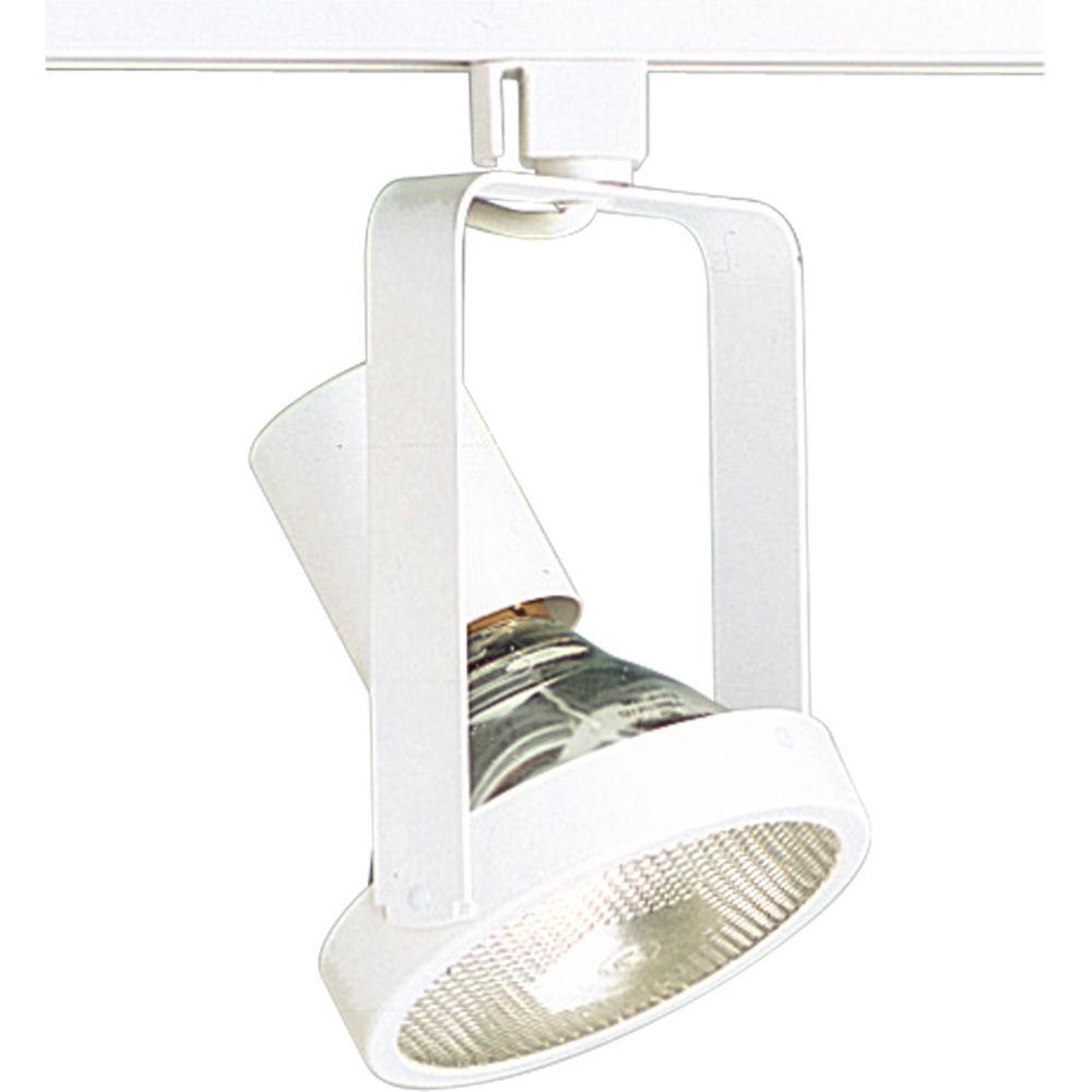 Progress Lighting Alpha Trak Collection 1-Light White Track Lighting Head