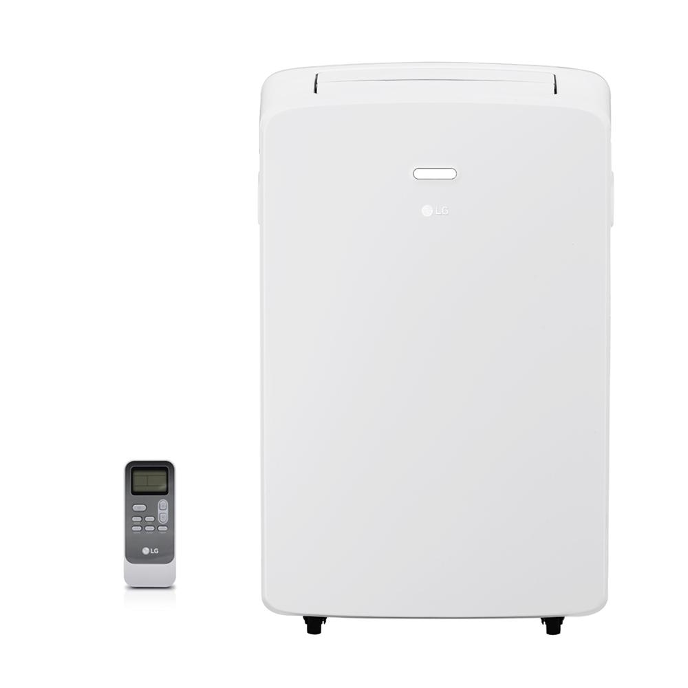 LGElectronics LG Electronics 10,200 BTU (6,500 BTU, DOE) Portable Air Conditioner, 115-Volt w/ Dehumidifier Function and LCD Remote in White