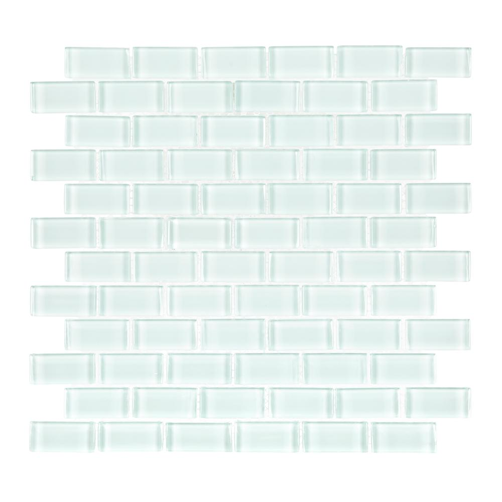 Jeffrey Court Glacier Ice Brick 12 in. x 12 in. x 8 mm Glass Mosaic Wall Tile