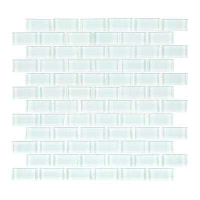 Glacier Ice Brick 12 in. x 12 in. x 8 mm Glass Mosaic Wall Tile
