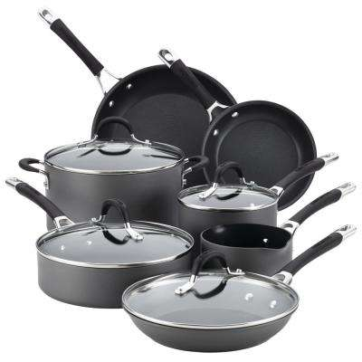 Momentum 11-Piece Hard-Anodized Nonstick Cookware Set with Lids