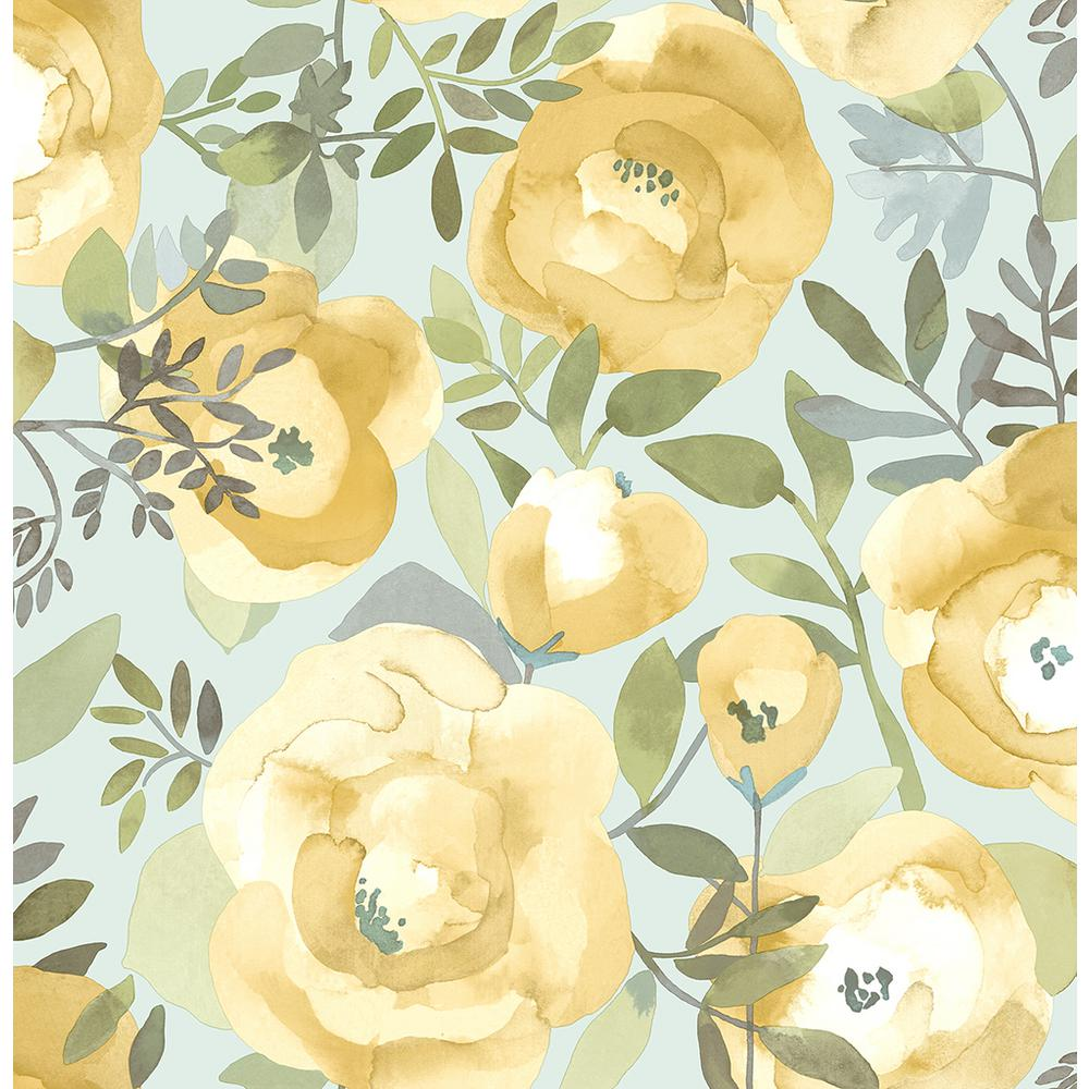 A Street 56 4 Sq Ft Orla Yellow Floral Wallpaper 2903 25837