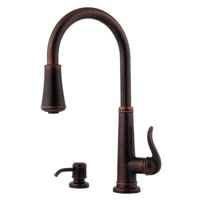 Ashfield Single-Handle Pull-Down Sprayer Kitchen Faucet in Rustic Bronze