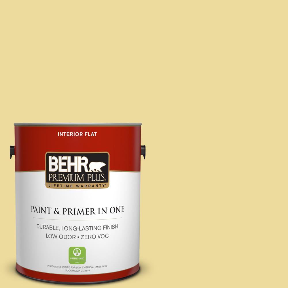 BEHR Premium Plus 1-gal. #P330-3 Pear Cider Flat Interior Paint