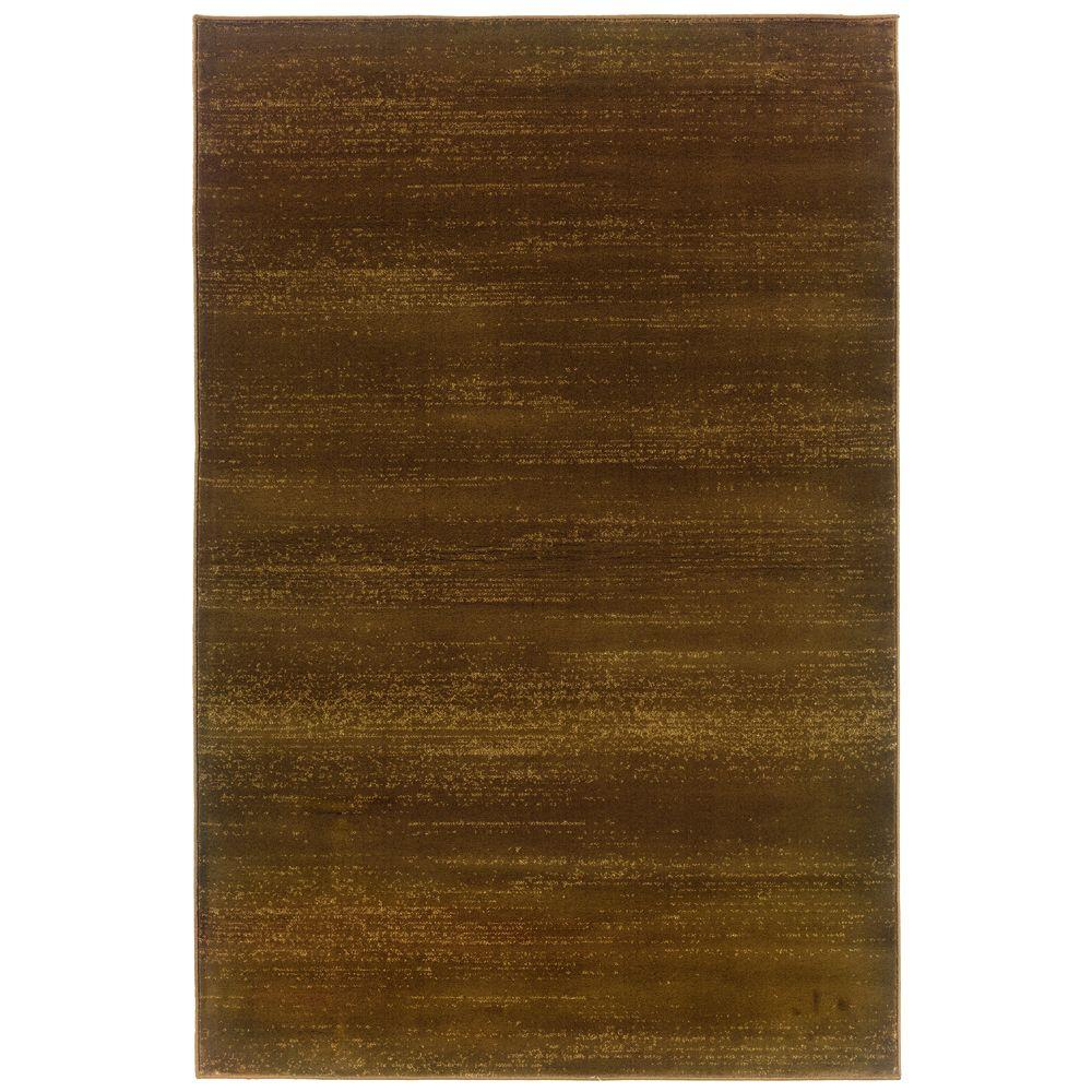 null Artisan Chromo Brown and Gold 9 ft. 10 in. x 12 ft. 9 in. Area Rug