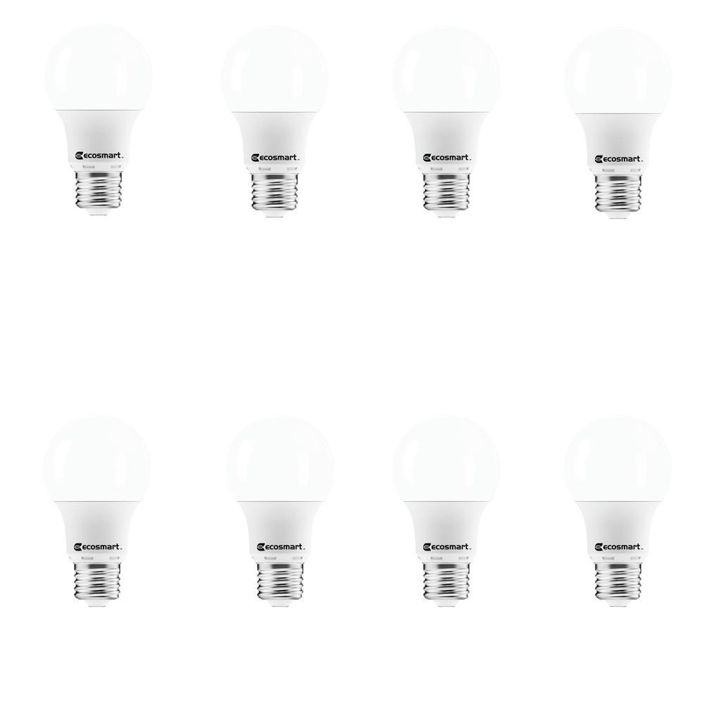 40-Watt Equivalent A19 Non-Dimmable LED Light Bulb Soft White (8-Pack)