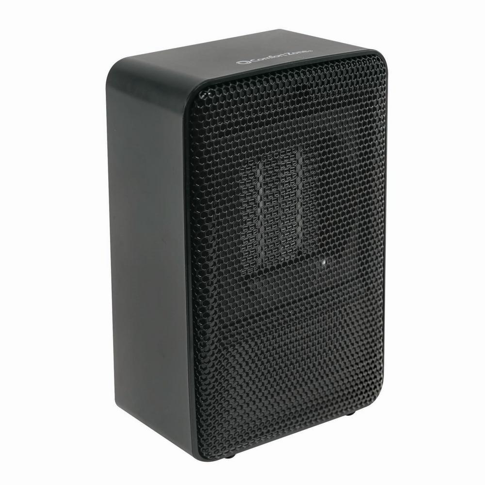 ComfortZone Comfort Zone Personal Desktop Ceramic Heater, Black