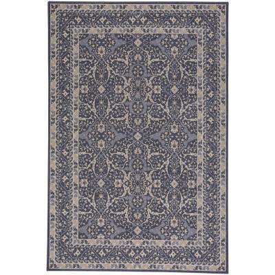 Municipality-Ziegler Dark Blue 3 ft. 11 in. x 5 ft. 6 in. Area Rug