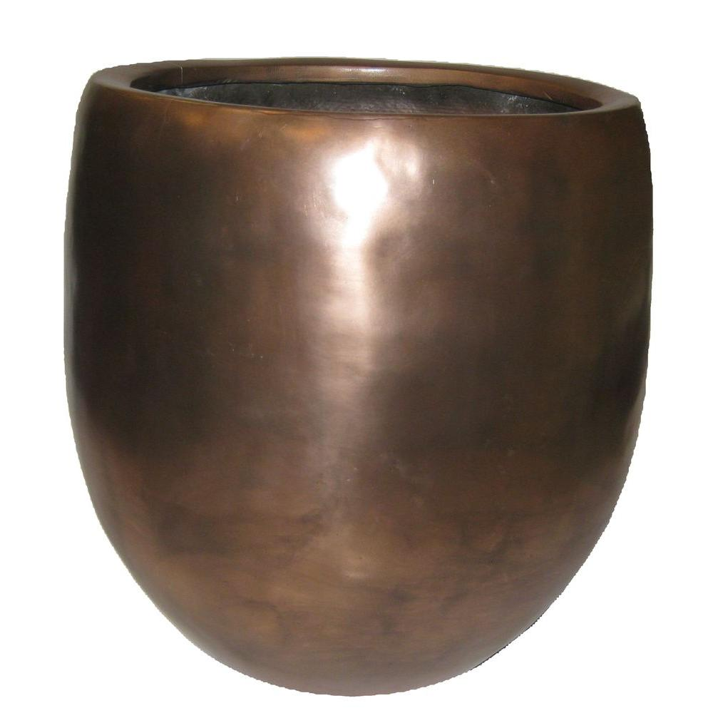 null 16in Fiberglass Allurent Metal Pot-DISCONTINUED