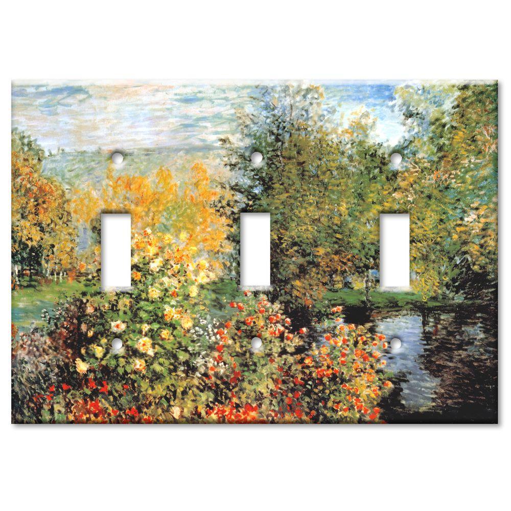 Art Plates Monet Stiller Winkle 3 Toggle Wall Plate