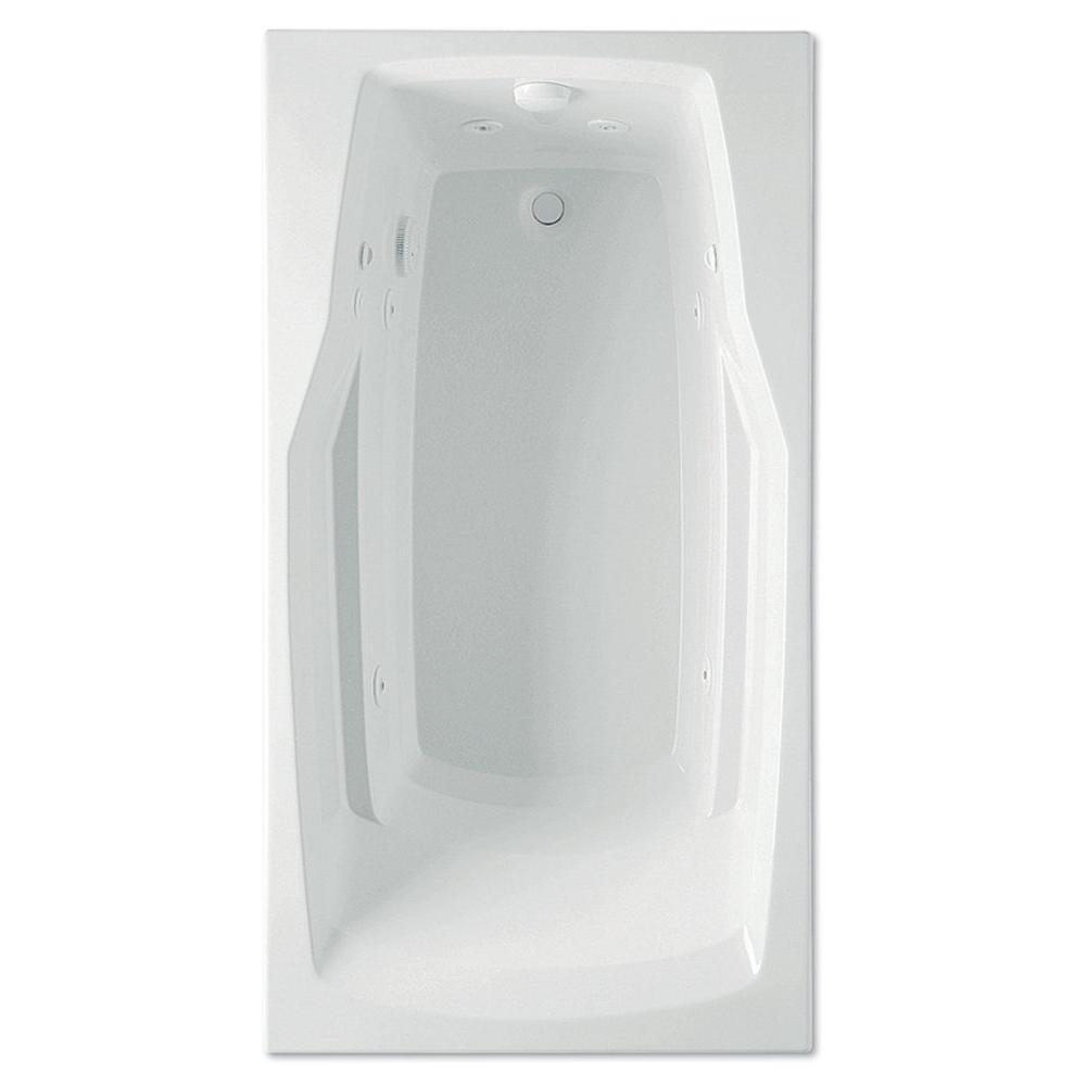 Aquatic Derby 5 ft. Reversible Drain Acrylic Whirlpool Bath Tub with Heater in White