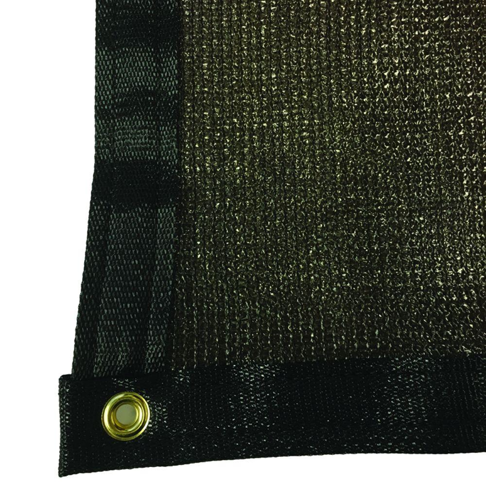 5.8 ft. x 25 ft. Brown 88% Shade Protection Knitted Privacy