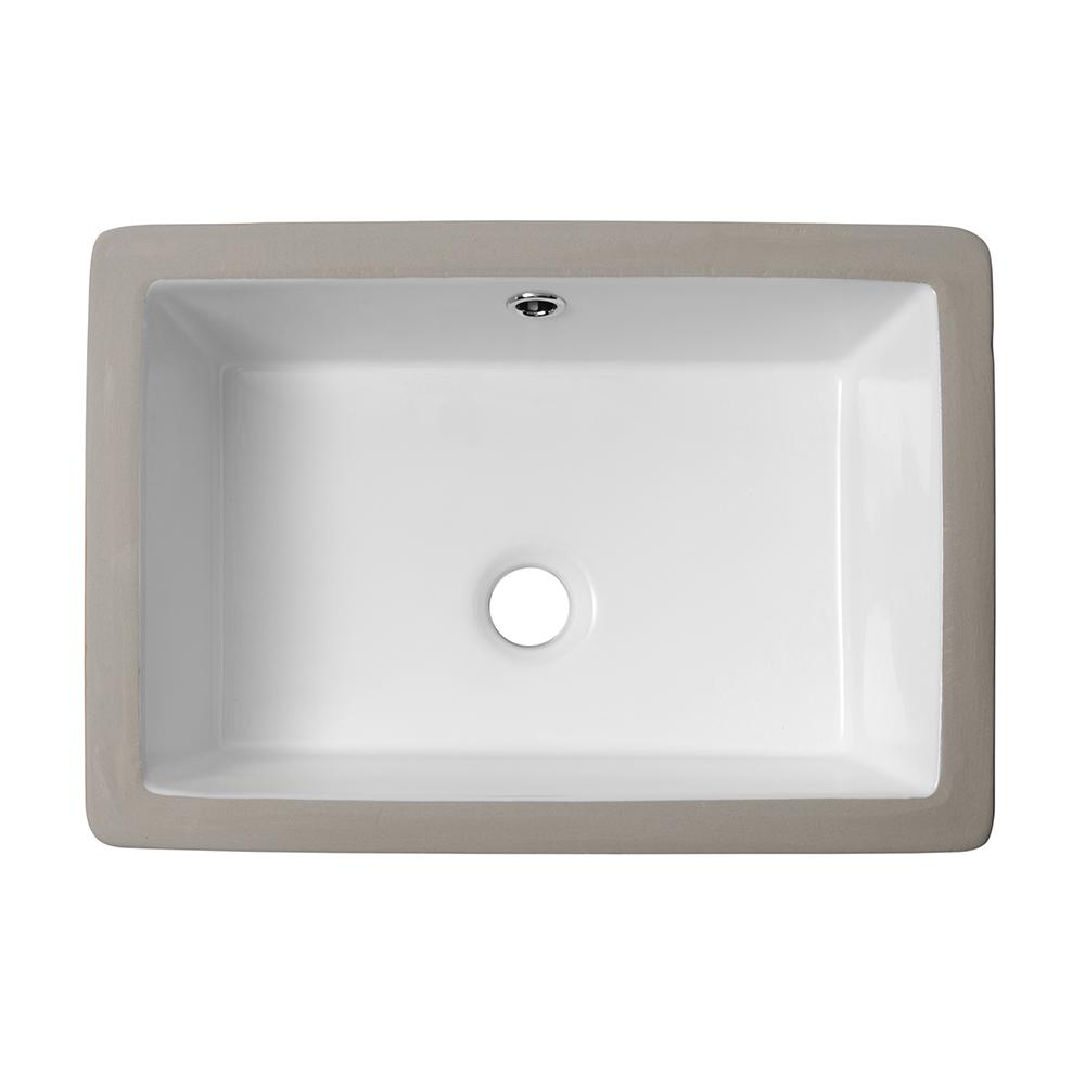 LORDEAR 18 in. Undermount Bathroom Vessel Sink Modern ...