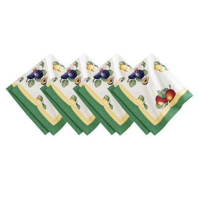 French Garden 21 in. W x 21 in. L in Multi-Color Napkins (Set of 4)