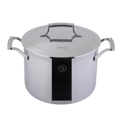 8 qt. Tri-Ply Stainless Steel Stock Pot with Lid