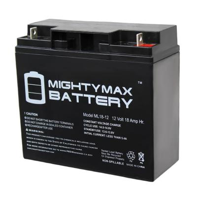 12-Volt 18 Ah Sealed Lead Acid (SLA) Rechargeable Battery