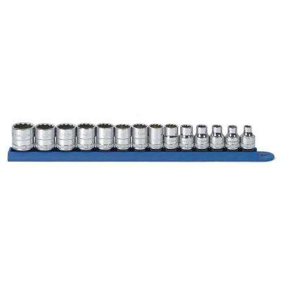 3/8 in. Drive Metric 12-Point Standard Socket Set (14-Piece)
