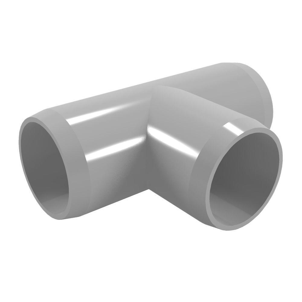 Formufit 1-1/4 in. Furniture Grade PVC Tee in Gray