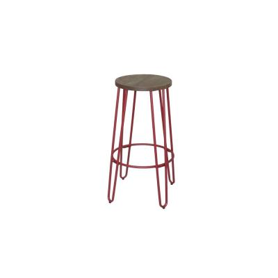 28.94 in. Matte Red Bar Stool