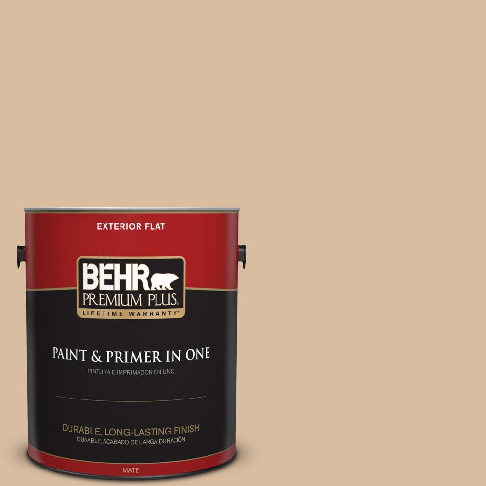1 gal. #PPU4-14 Renoir Bisque Flat Exterior Paint