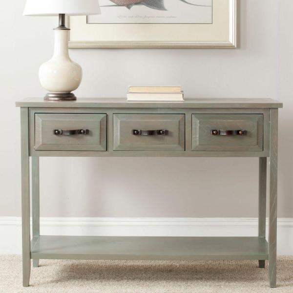 Aiden Antique Grey Storage Console Table