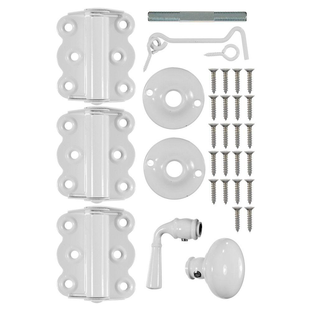 Wright Products Vinyl Screen Door Kit in White