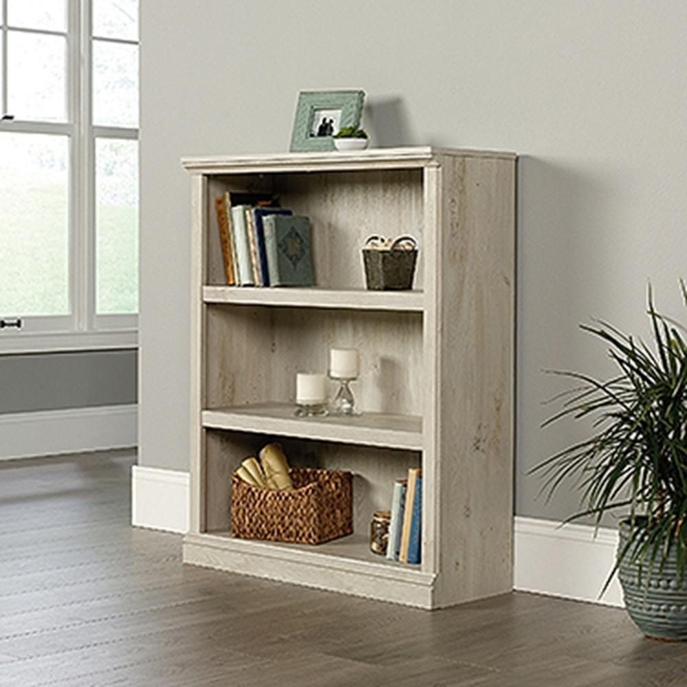 Internet 305012481 SAUDER Chalked Chestnut 3 Shelf Bookcase