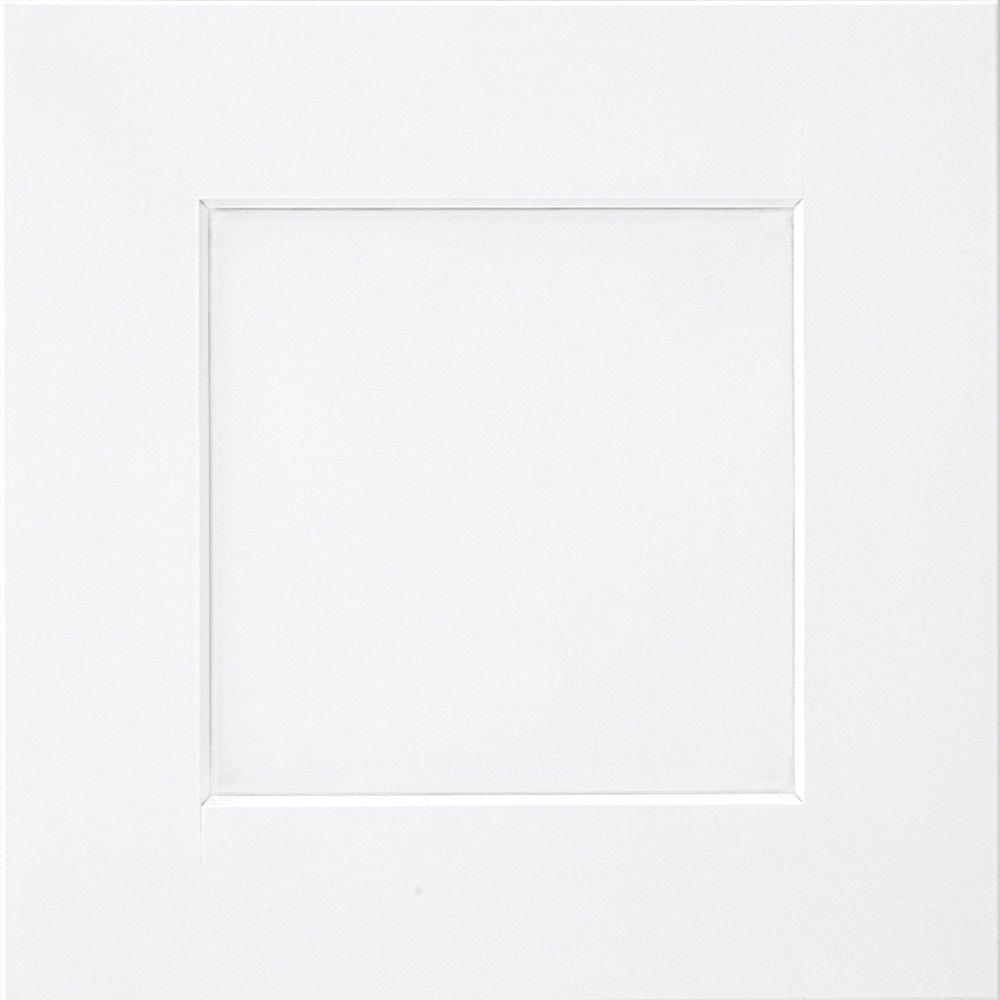 Thomasville Classic 14.5x14.5 in. Cabinet Door Sample in Eden Maple White