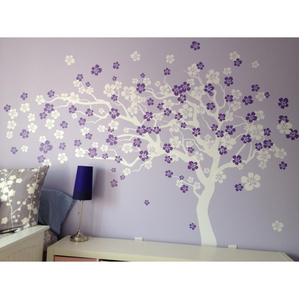 Pop Decors 144 In X 83 In Cherry Blossom Tree Removable Wall Decal