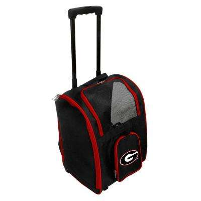 NCAA Georgia Bulldogs Pet Carrier Premium Bag with wheels in Red