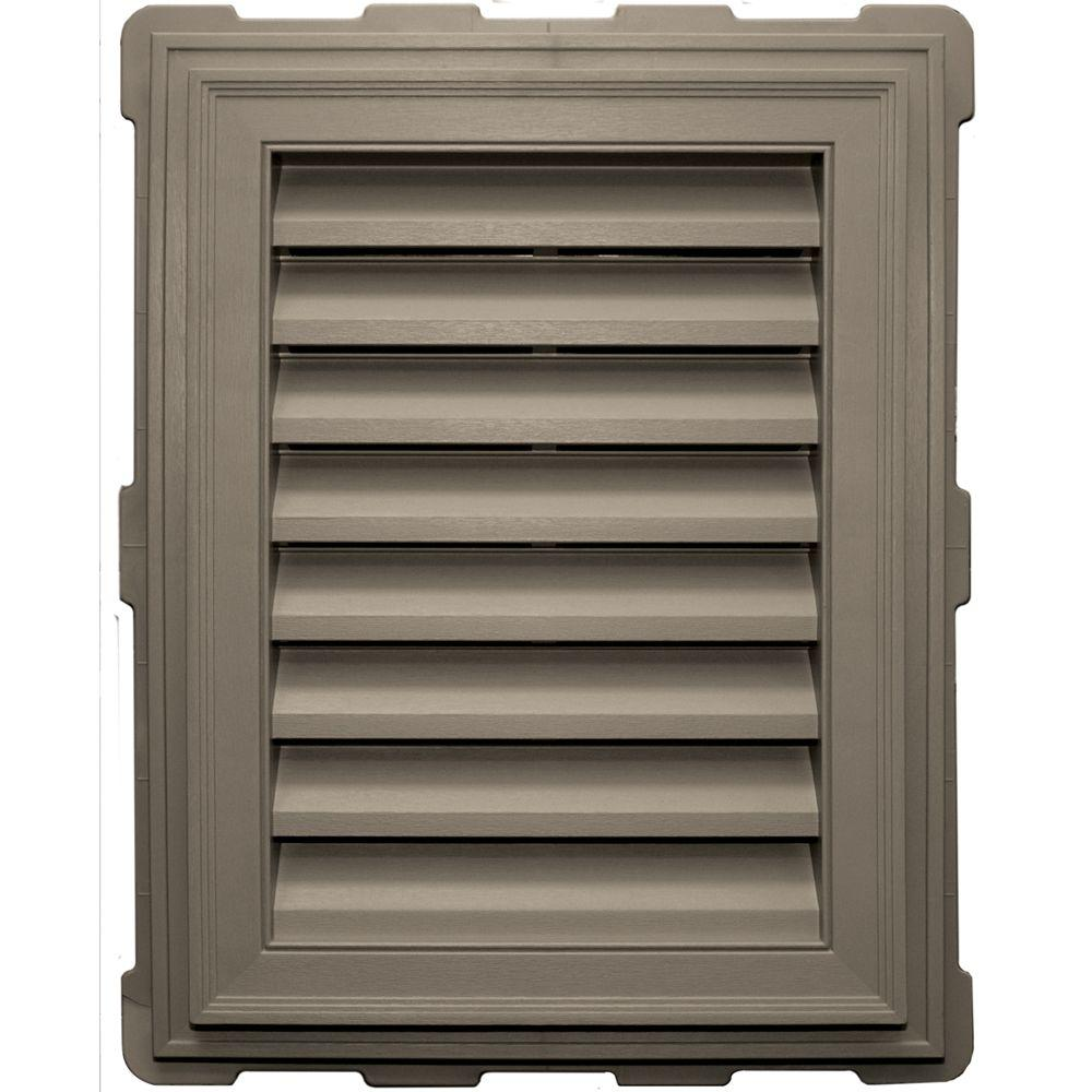 18 in. x 24 in. Classic Brickmould Gable Vent in Clay