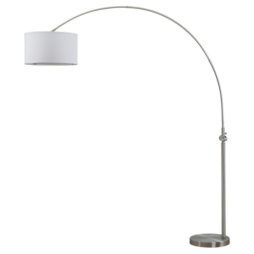 Ascella 86 in. Nickel Arc Floor Lamp