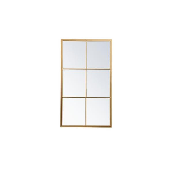 Large Rectangle Brass Contemporary Mirror (48 in. H x 28 in. W)