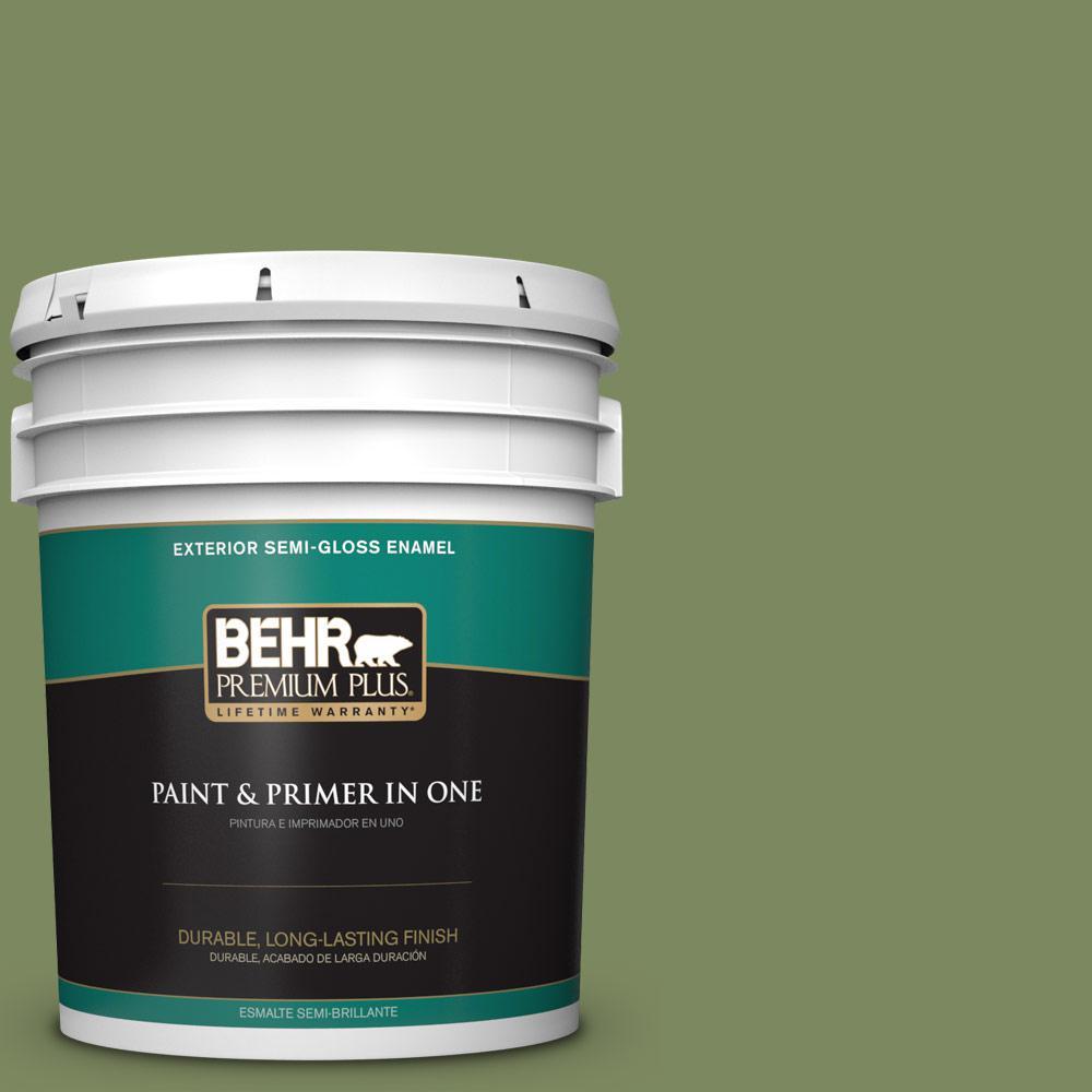 5 gal. #PPU10-02 Tuscany Hillside Semi-Gloss Enamel Exterior Paint