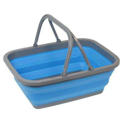 2.4 Gal. Blue Collapsible Bucket with Handle