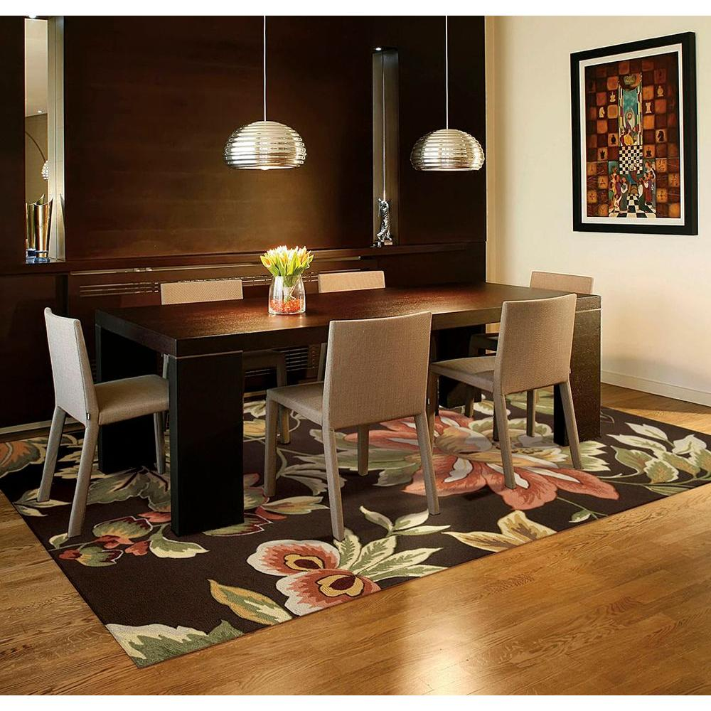 Nourison French Country Chocolate 8 ft. x 11 ft. Area Rug