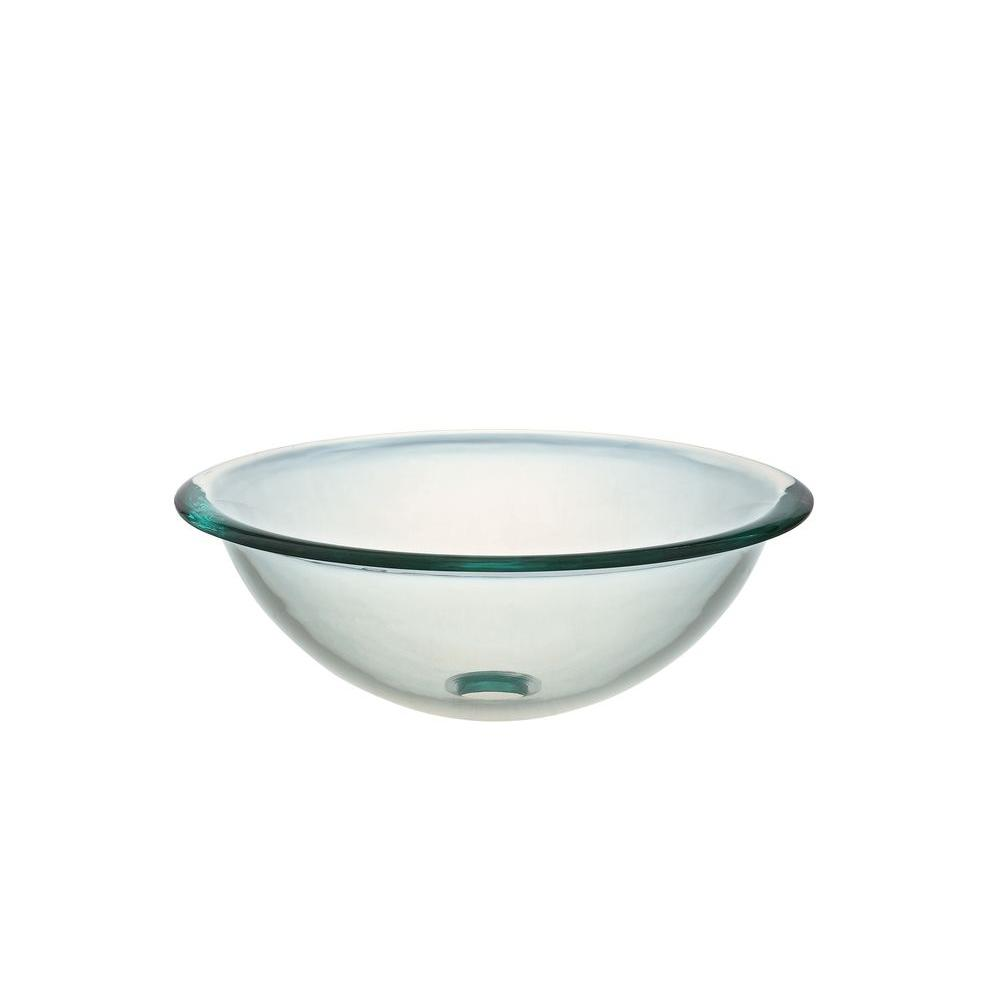 Hembry Creek Vessel Sink in Clear Glass