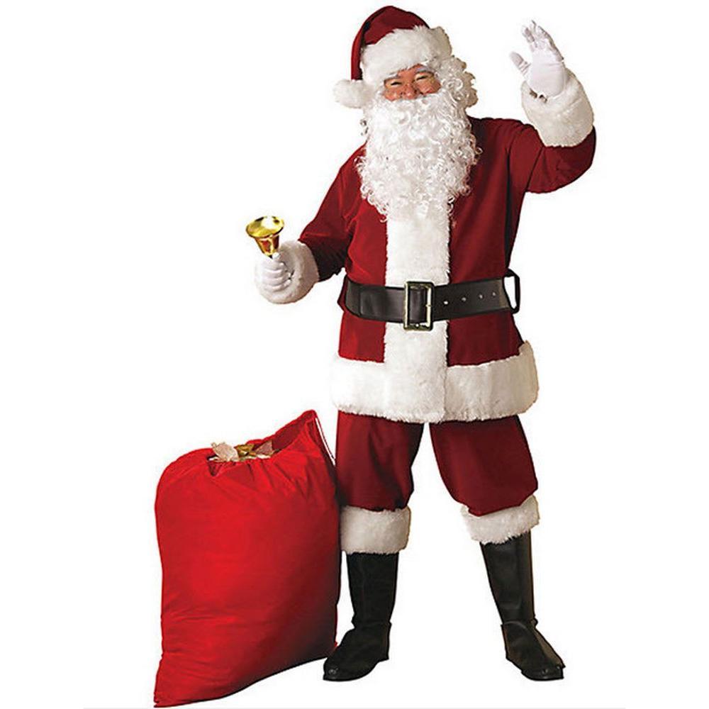 Rubie's Costumes Extra Large Crimson Regal Plush Santa Suit Adult Costume