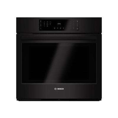 800 Series 30 in. Single Electric Wall Oven with European Convection in Black with Self Clean and Touch Controls