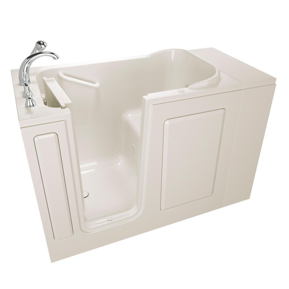 Value Series 48 in. Walk-In Whirlpool Bathtub in Biscuit
