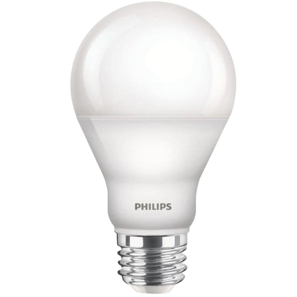 philips 60w equivalent soft white a19 dimmable led with warm glow light effect household light. Black Bedroom Furniture Sets. Home Design Ideas