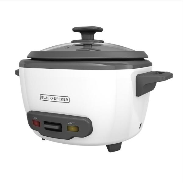 Black + Decker White Rice Cooker and Food Steamer