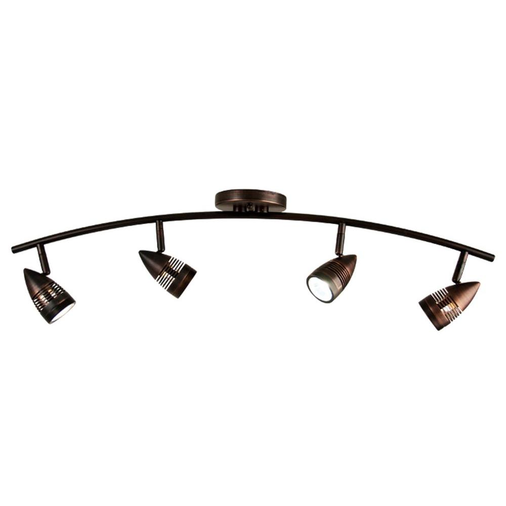 Filament Design Celestial 4 Light Oil Rubbed Bronze Track Lighting Kit With Directional Heads
