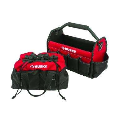 15 in. Tool Tote and Parachute Bag Combo
