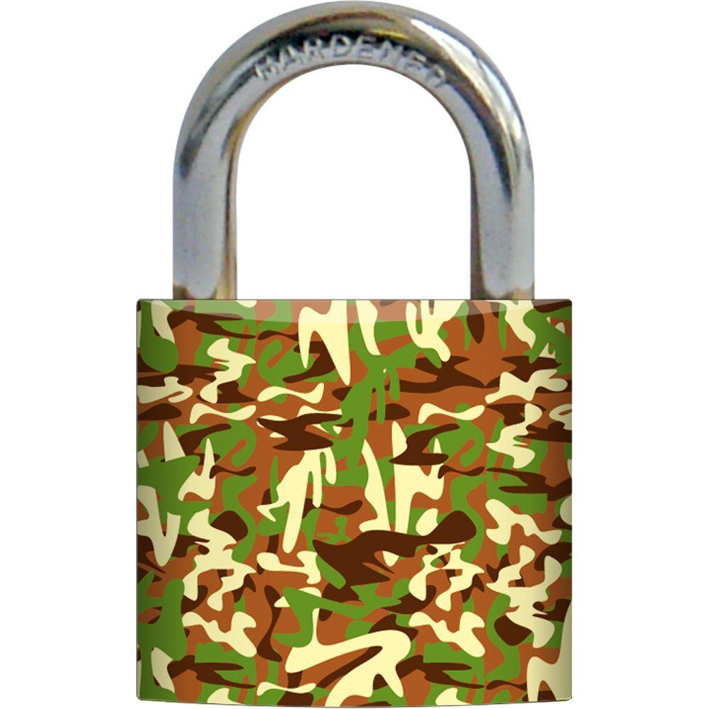 Rish 1-3/16 in. Metal Body Camouflage Design Painted Padlock-DISCONTINUED